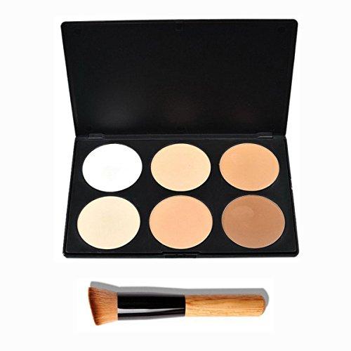 Pixnor cosmétiques maquillage correcteur Palette Palette Contour Kit 6 couleurs avec pinceaux
