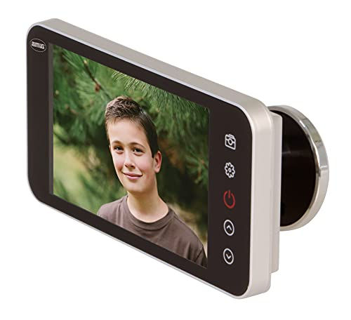 Amig - Mirilla Digital para Puertas con Pantalla LCD 4'' DWR 4.0 HD Plata, Plateada (D) | Visor con Cámara de Vídeo Que Proporciona Visión de Imágenes Claras | De Fácil Instalación y Uso