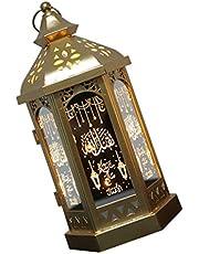 SOLUSTRE Marockansk Ljuslykta Vintage Hängande Ljushållare Led Ramadan Dekorationer Bröllop Centerpieces Muslim Gåva För Semester Ramadan Bröllopsfest Inget Batteri Slumpmässigt Mönster