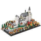 OATop Modelo modular de bloques de construcción, 1320 piezas, castillo Neuschwanstein Alemania, construcción de maqueta, juego de construcción para niños y adultos, compatible con Lego