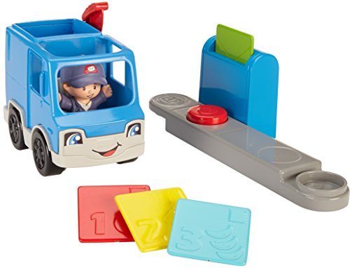 Fisher-Price Little People Small Vehicle Postauto Bleu 4 pièces