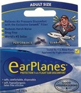 EarPlanes Protection, Adult Size, One Pair by EarPlanes