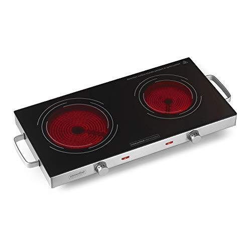 Kitchen chef - kcppv2800 - Réchaud vitroceramique 2 feux 2800w