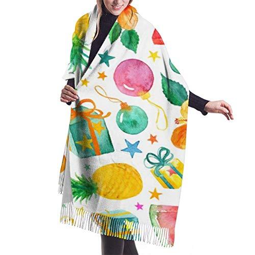 N / A Damen Schal im südlichen Sommer, lang, warm, groß, 192 x 68 cm
