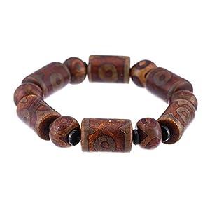 Prime-Feng-Shui-Armband, tibetisches 3-Augen Dzi-Armband, gelbes Schutzamulett, bestes Geschenk, zieht positive Energie und Glück an.