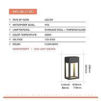 壁灯 モダンウォールランプ屋外ガーデンライト防水テラスプラグインパワフルな壁燭台照明コートヤードストリートランプアルミニウム (Color : Black, Emitting Color : Power 1)