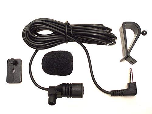 Augustcoco Microfono 3.5 mm Microfono Esterno Montaggio per Auto Veicolo Head Unit Bluetooth Audio Stereo Radio GPS DVD