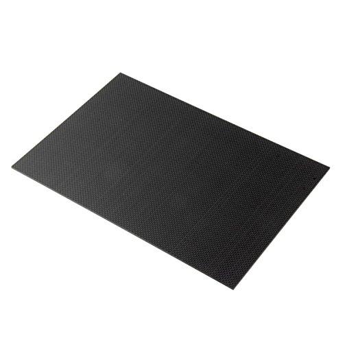 FHJZXDGHNXFGH Black Home Placa de Fibra de Carbono 100% 200 * 300 * 3 mm con Ambos Lados Hoja de Panel de Superficie Brillante Tejido Liso 3K