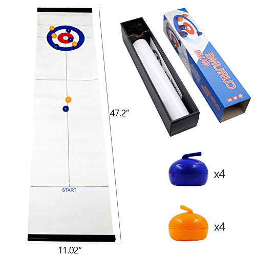 Find Cheap MorTime Table Top Curling Game for Family, Adults and Kids Team Board Game,Easy to Set-...