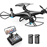 Holy Stone HS110D FPV RC Drone with 1080P HD Camera Live Video 120° Wide-Angle WiFi Quadcopter with Altitude Hold Headless Mode 3D Flips RTF with Modular Battery, Color Black
