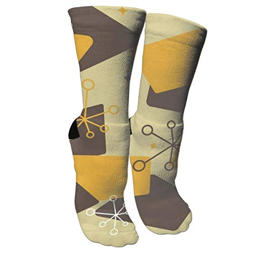antcreptson Mid Century Modern Futuro Unisex Slipper Socks Soft Warm Cute Cozy Fluffy Winter Christmas Socks