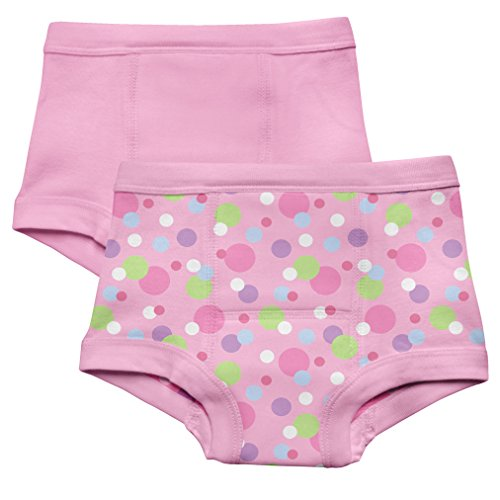 green sprouts by i play. Training Underwear, Pink Dot, 3T (Pack of 2)