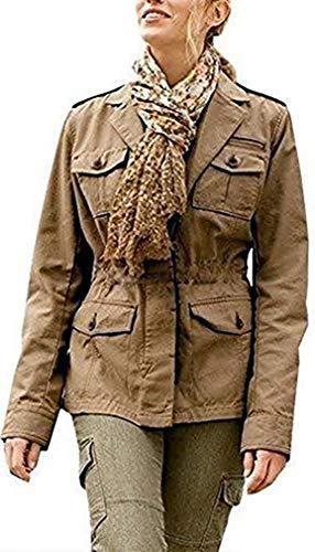 Eddie Bauer Jacke im Military Stil Damen Camel meliert Gr. S