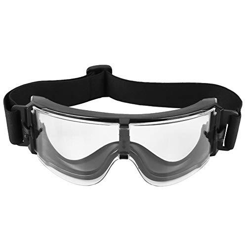 Tbest Gafas Tácticas,Gafas de Tiro Deportivo a Prueba de Viento Gafas Antivaho Gafas de Sol Ciclismo Gafas de Protección Ocular Gafas Disparo para Surf, Ciclismo, Senderismo, Acampada(Transparente)