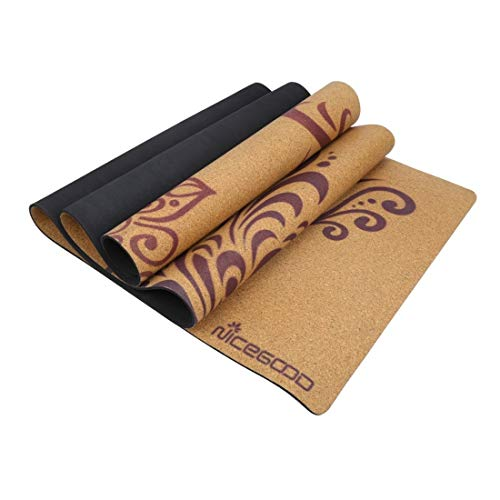 HoneyJuan Gymnastiek-yogamat yogamat kurk 3 mm milieuvriendelijk tasty turnmat yogamat voor fitness gezin. Fitness Pilates Workout mat