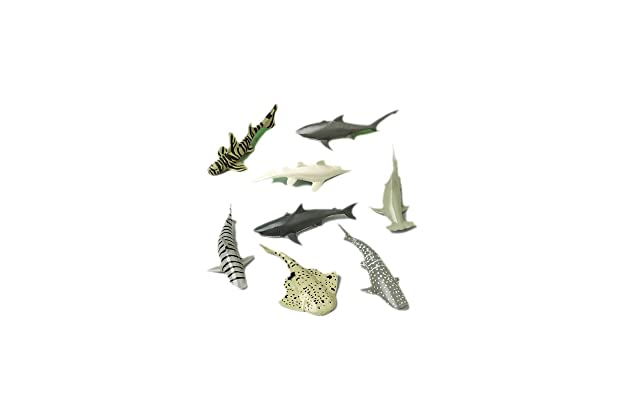 Amazon com: Shark Toy Animals (12 Count): Toys & Games