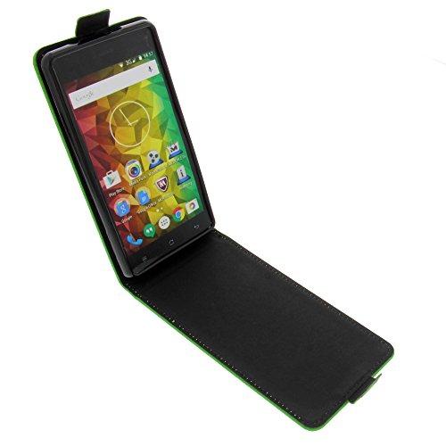 foto-kontor Tasche für MEDION Life E5001 Smartphone Flipstyle Schutz Hülle grün