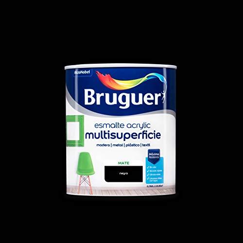 Bruguer Acrylic Multisuperficie Esmalte al agua - Pintura 750 mL, Mate Negro