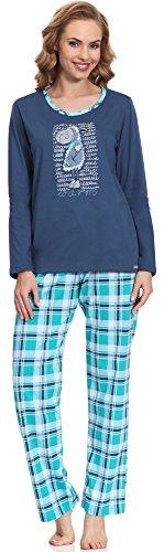 Cornette Damen Schlafanzug Warm (Jeans, S)