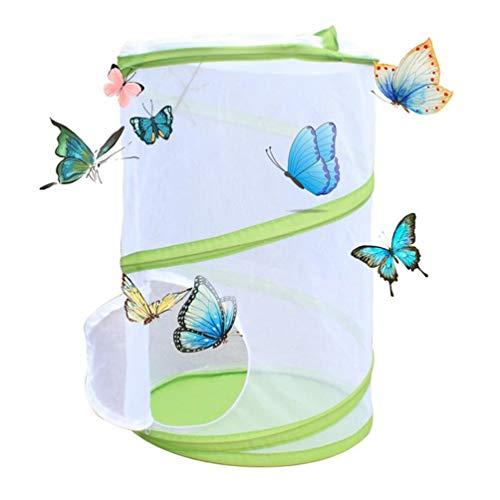 NROCF Grande Cage Papillon - Insectes Papillon Habitat Cage, PVC Pet Anti Moustiquaire Culture des Plantes Reptile À Effet De Serre d'alimentation Boîte