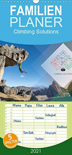 Climbing Solutions - Bergsport weltweit - Familienplaner hoch (Wandkalender 2021, 21 cm x 45 cm, hoch)
