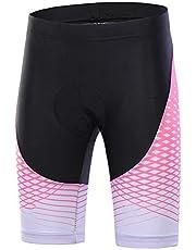 Lefuyan Pantalones Cortos Deportivos De Ciclismo para Mujer Pantalones Cortos 3D De Bicicleta Acolchada Bicicleta MTB Pantalones Cortos,L