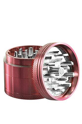 Heisenberg Color-Crush - Aluminum Grinder Kräutermühle und Crusher für Tabak, Kräuter, Pollen - 4 teilig - Ø 5cm - Höhe 4 cm - Gewürzmühle mit Magnet-Deckel - Pink