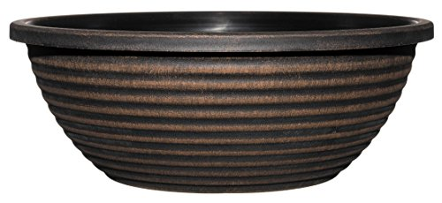 "Classic Home and Garden 615 Acopper Santa Fe 17"" Bowl Planter, Large, Antique Copper"