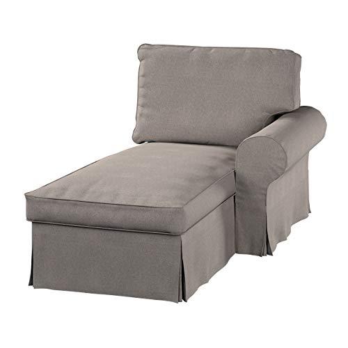 Dekoria Ektorp Bezug für Récamiere rechts Sofahusse passend für IKEA Modell Ektorp beige-grau