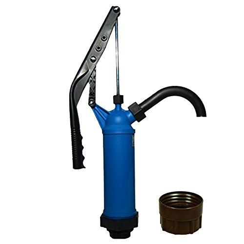 ABACUS Fasspumpe Vario mit variablem Hub + Adapter braun für Gewinde Nr. 71 - geeignet für Alkohole, Benzin, Diesel, milde Laugen und milde Säuren - Handpumpe Ölpumpe (7218)