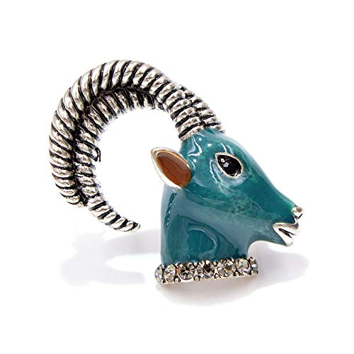 GLKHM Retro Broche Pin Moda Animal Cabra Broche De Mujer Accesorios Pin