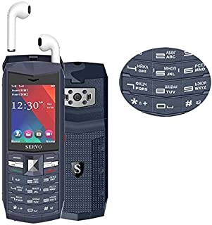 Mobile Phones & Communication SERVO R26 TWS Bluetooth Mobile Phone, Russian Keyboard, 3000mAh Battery, 2.4 inch, 23 Keys, ...