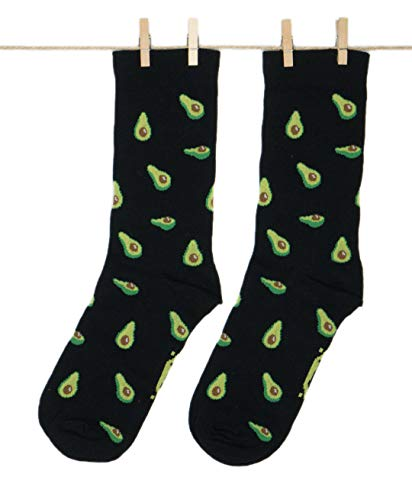 Roits Aguacates Negros - Calcetines Originales Hombre y Mujer (36-40)