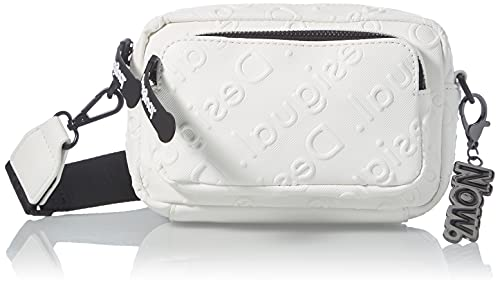 Desigual PU Across Body Bag, Handbag Femme, Blanc, Taille Unique