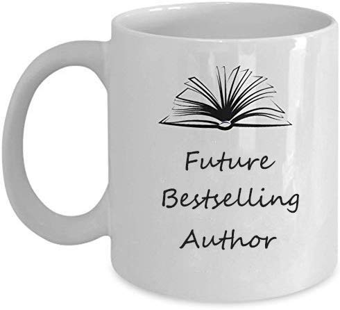 Book Literature Writer Mug - Future Bestselling Author Coffee Mug Funny Gift for Writers 11 oz for Christmas