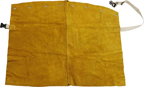 West Chester IRONCAT 7001 Leather Bib - 24 in. x 17 in. Heat Resistant Safety Wear in Golden Yellow for Welding. Safety Apparel