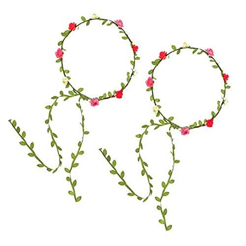 Corona di fiori colorati, 2 pezzi ghirlanda floreale