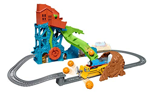 Thomas & Friends TrackMaster track set with motorized Thomas engine, Darcy the digger powered by Thomas, and special features