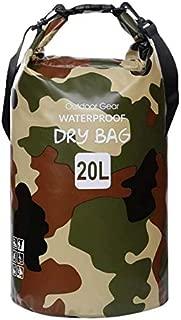PVC waterproof bucket bag Mountain hiking bag camouflage folding beach bag outdoor supplies swimming collection bag