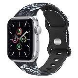 ATOO Correa compatible para Apple Watch de 44 mm, 40 mm, 42 mm, 38 mm, con impresión sin desvanecimiento, correas de repuesto para iWatch SE Series 6 5 4 3 2 1
