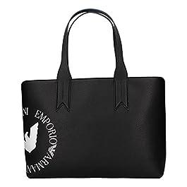 Emporio Armani Sac cabas pour femme art. Y3D099 Y330E 85893 – Fermeture à glissière de couleur noire 42 x 27 x 12…