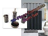 Empire Home 19ピース バスルームセット ラグシャワーカーテンフック セラミック製 すべて付属 !