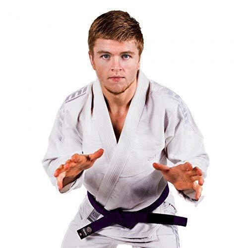 Tatami Estilo 5.0 BJJ Gi Blanco Sobre Blanco Premier Brasileño Jiu-Jitsu Kimono Gi Uniforme - Blanco, A4