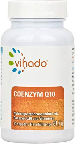 Vihado Coenzym Q10 Kapseln hochdosiert – ergänzt durch B-Vitamine und Biotin für Energiestoffwechsel – mit Vitamin E gegen oxidativen Stress – ideale Nahrungsergänzung als 3-Monatskur