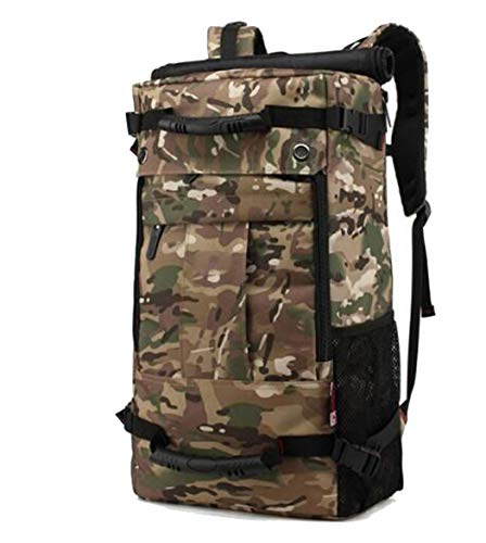 Men Military Oxford Travel Backpack Multi Function 17 Inch Laptop Camouflage Travel Bag 40L Camouflage