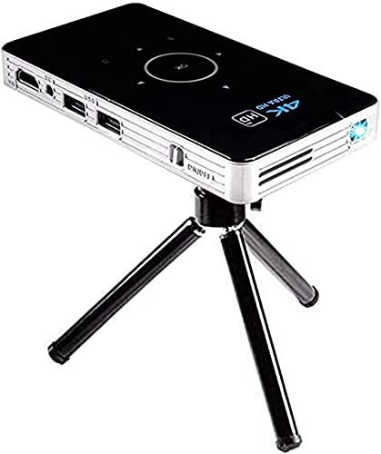 Mini proyector, 4K LED 1080P WiFi Bluetooth Proyector de Bolsillo HD Home Theater Película Cine Familiar, Soporte WiFi/HDMI/Bluetooth/USB/Tarjeta TF/Cable de Audio con Soporte para trípode