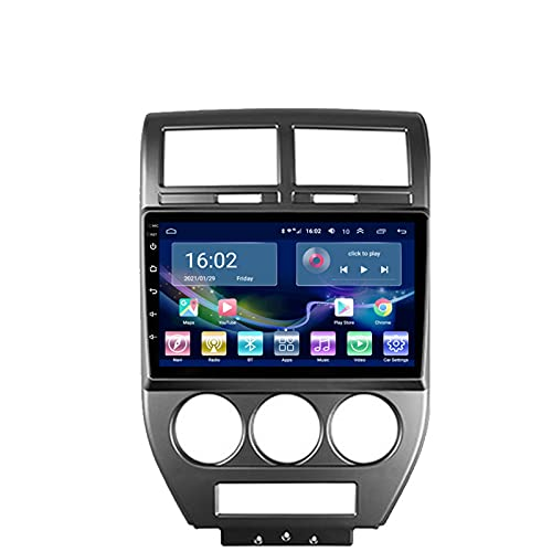XXRUG Autoradio per Jeep Compass 2006-2010 Radio Navigation Player Android 10.0 unità Principale con Carplay Touchscreen IPS da 10,1 Pollici BT/WiFi con Telecamera di Backup