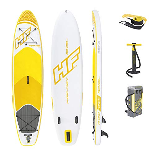 Bestway Hydro-Force SUP Cruiser Tech, stabiel en licht stand-up padddling board opblaasbaar, 320 x 76 x 15 cm
