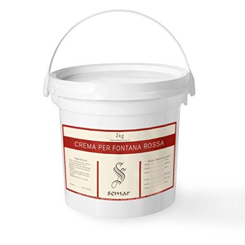 Cioccolato Rosso - PRONTO USO - per fontane di cioccolato da 2 Kg