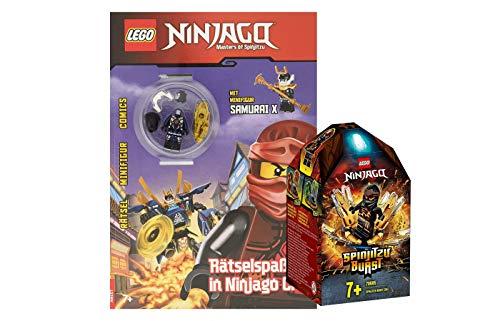 Collectix Lego Ninjago - Set: 70685 Coles Spinjitzu-Kreisel + Rätselspaß in Ninjago City mit Samurai X Minifigur (Softcover)